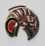 Enamel Pin - Salmon by Mervin Windsor