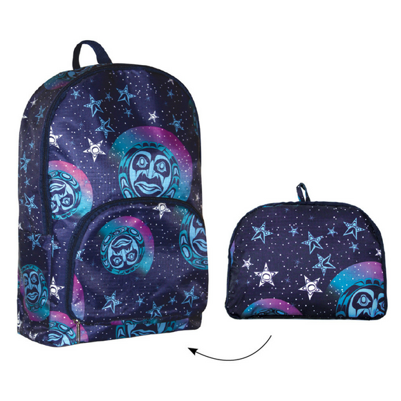 Foldable Backpack - Among the Stars by Paul Windsor