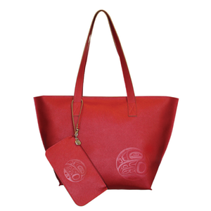Tote Bag & Wristlet Set - Moonlight (Red) by Maynard Johnny Jr