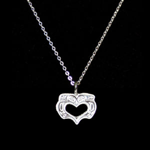 Sterling Silver Charm Necklace - Love Birds by T.J. Sgwaayaans Young