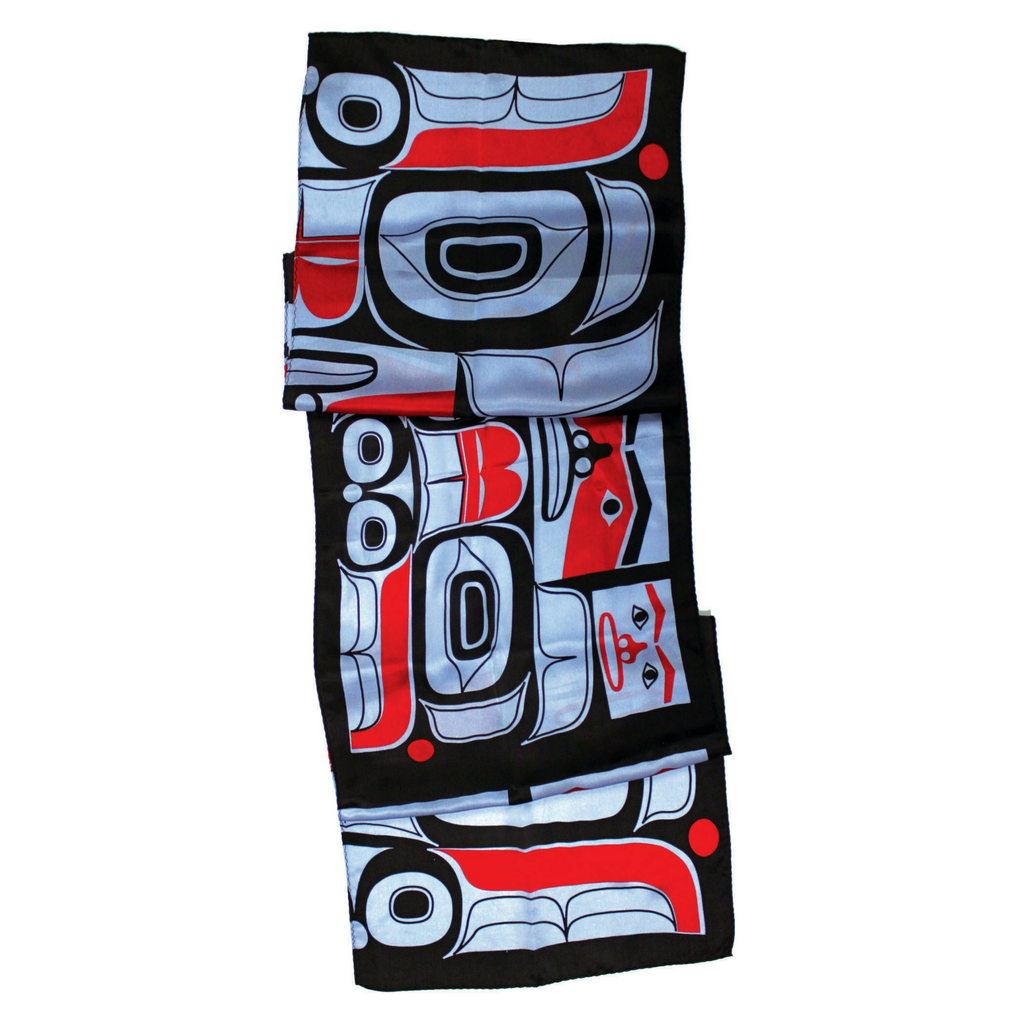 "Silk Scarf 13"" - Chilkat Bear by Ryan Cranmer"