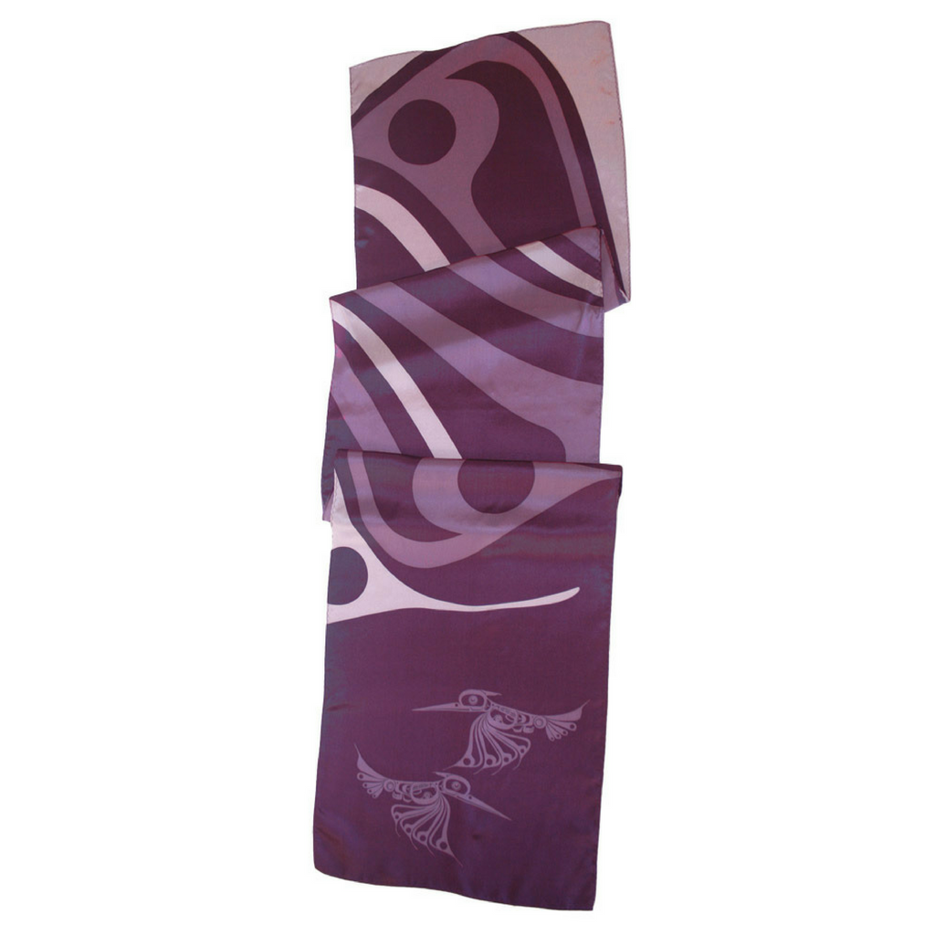 "Silk Scarf 13"" - Hummingbird by Eric Parnell"