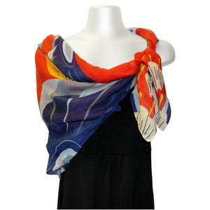 Square Scarf - Dance Of Hummingbirds by Marcel Russ