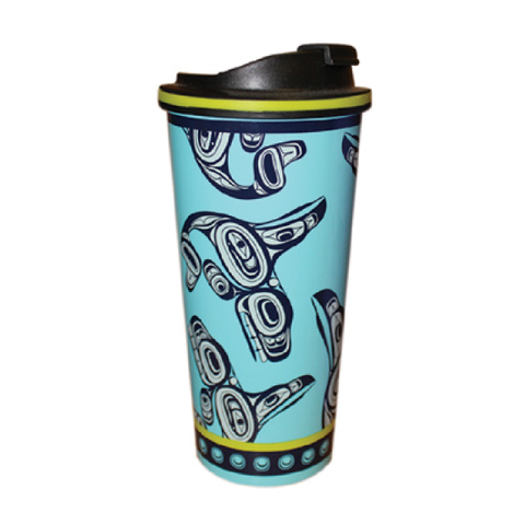 Travel Mug 16oz - Whale by Ernest Swanson