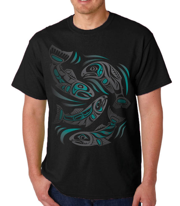T-shirt-Sacred Salmon by Paul Windsor