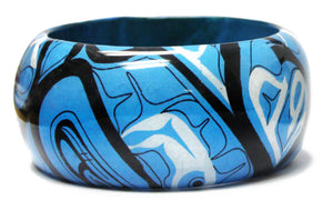 "Wood Bangle 1.5"" - Intention by Mike Dangeli"