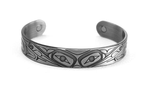 Brushed Silver Bracelet - Butterfly by Gordon White