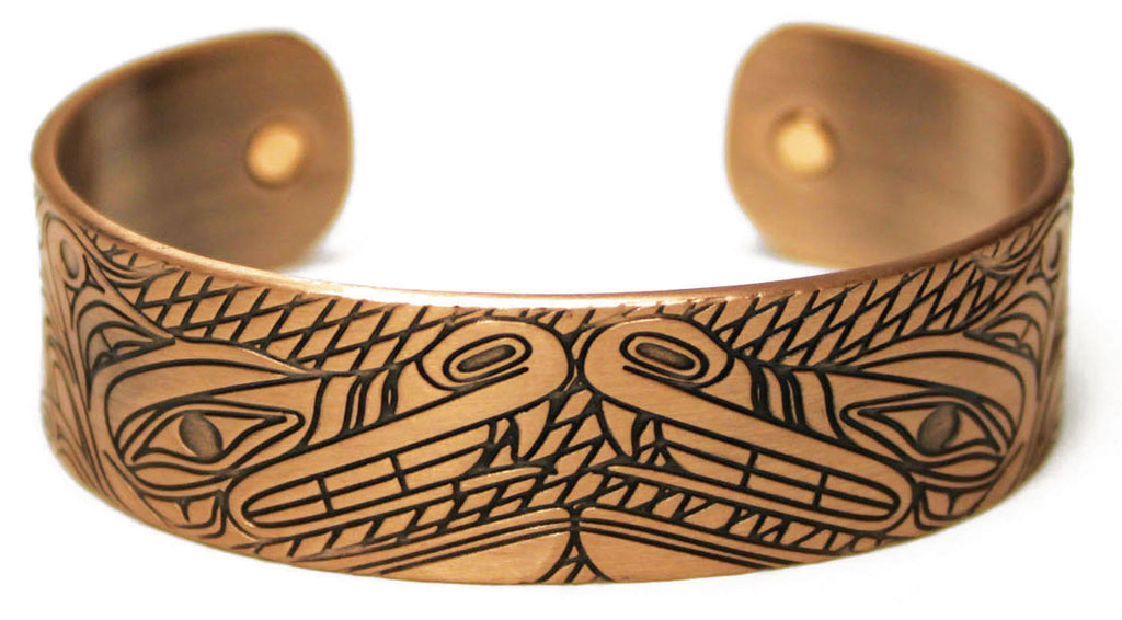 Copper Bracelet - Wolves by Andrew Williams