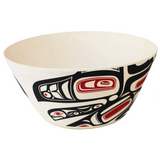 "Bamboo Bowl 10"" Running Raven by Morgan Green"