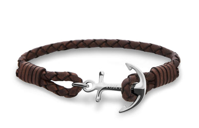 Tom Hope Havana Brown anchor bracelet