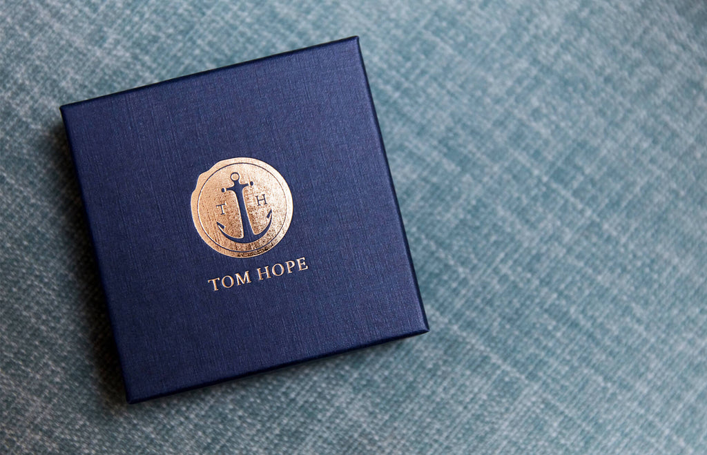 Tom Hope Jet Black anchor bracelet