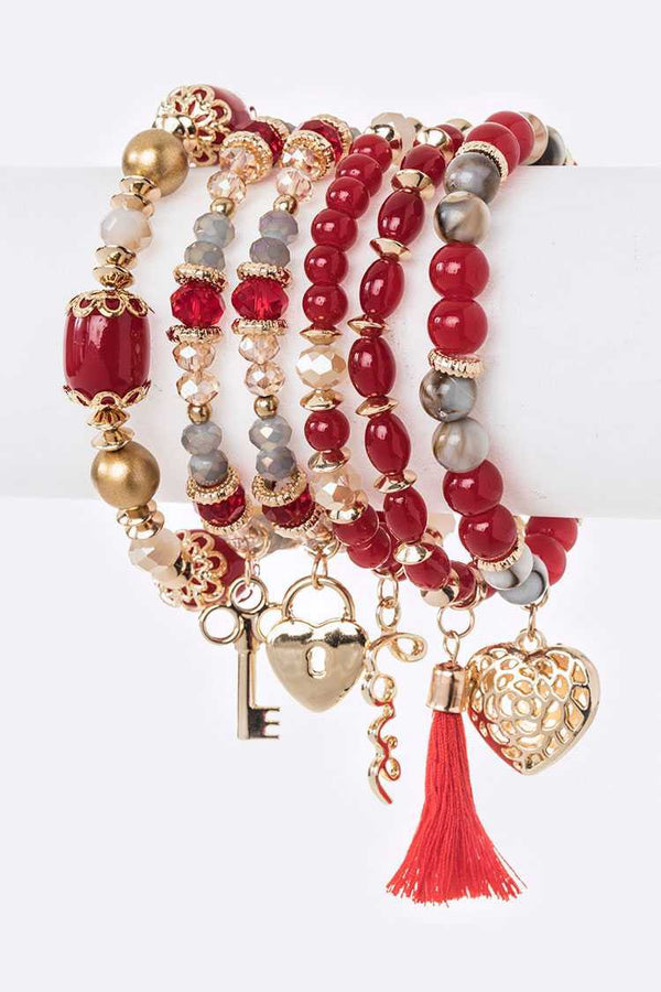 Red Love Bracelet Set