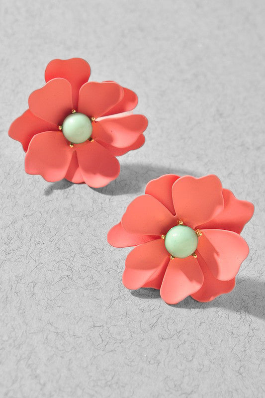 Monet Flower Earrings