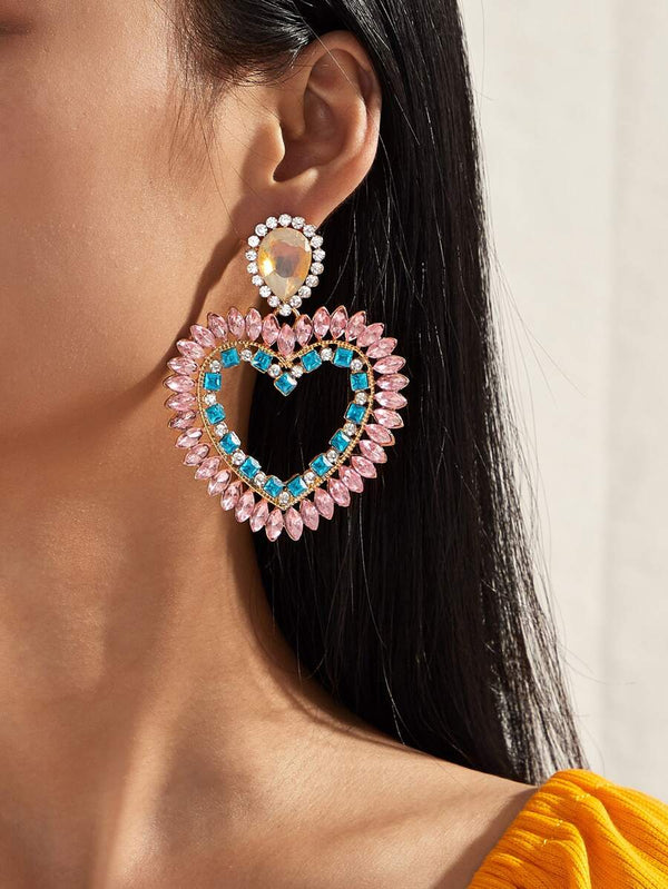 Jumbo Heart Drop Earrings