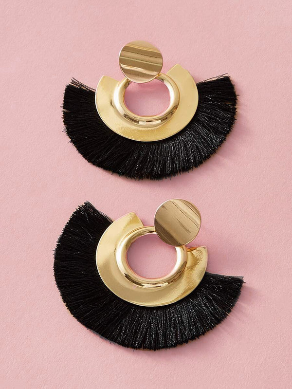 Raven Tassel Earrings