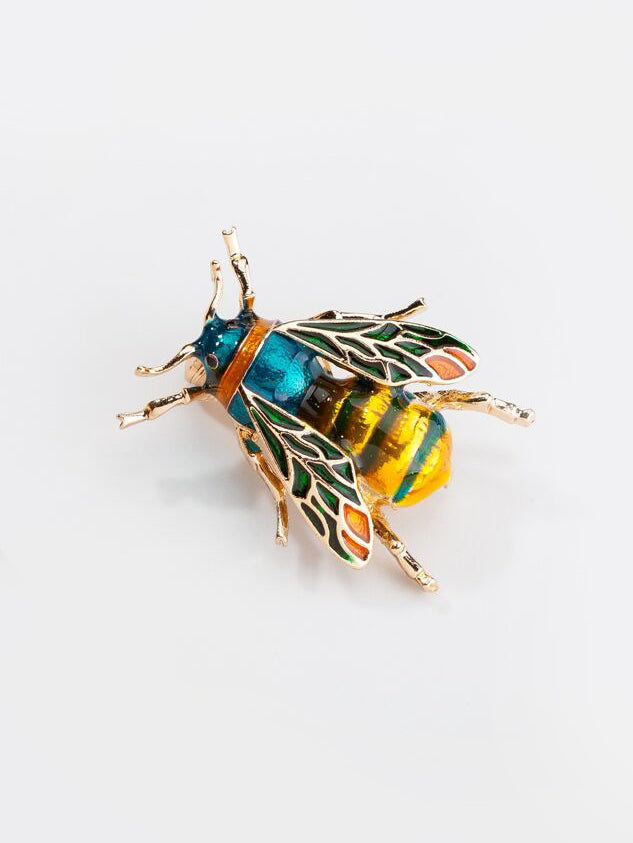 Multicolored Bee Brooch