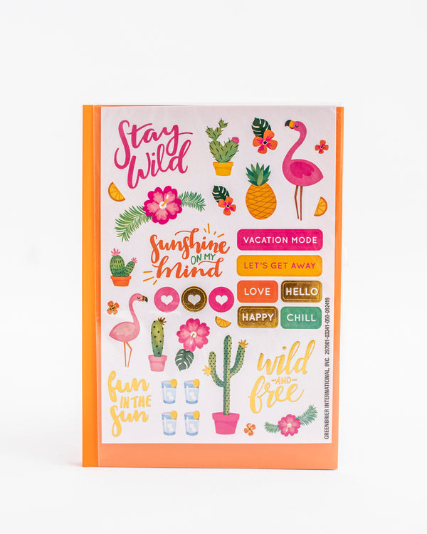Tropical Sticker + Notebook Set