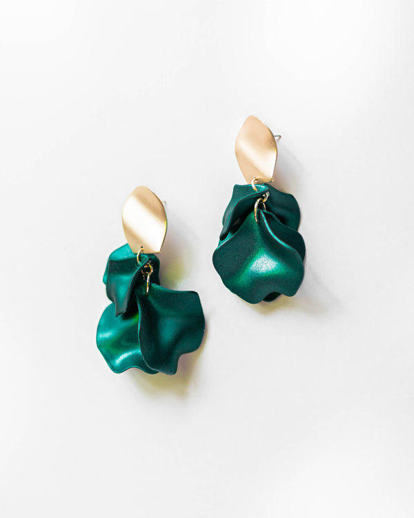 Jumbo Rose Petal Earrings