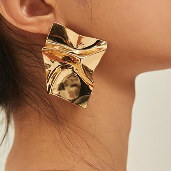 Jumbo Gold Abstract Earrings