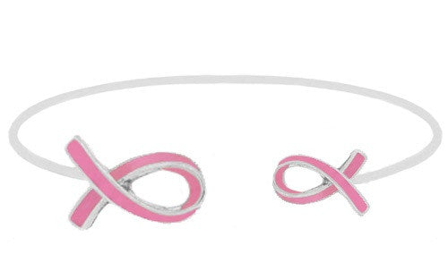 Pink Ribbon Bangle