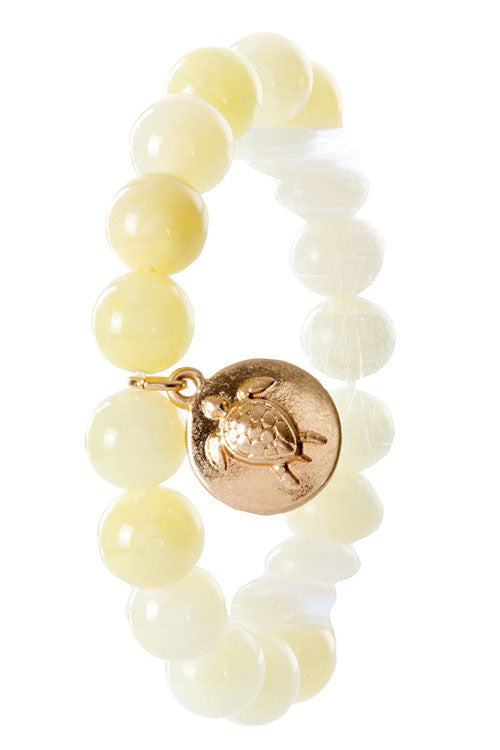 Timeless Sea Turtle Stretch Bead Bracelet