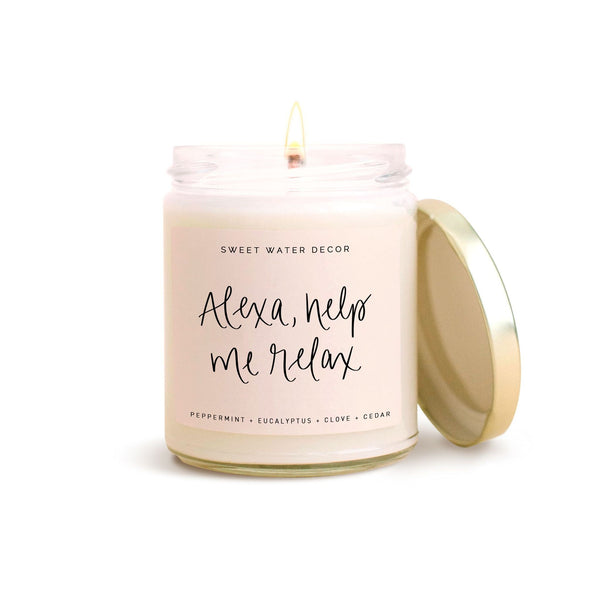 Alexa, Help Me Relax Soy Candle