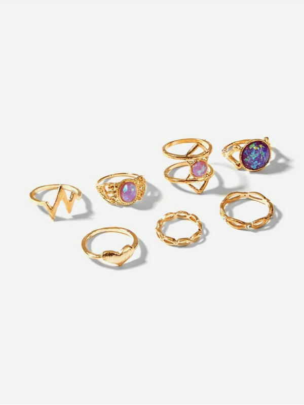 Raina 7pc Ring Set