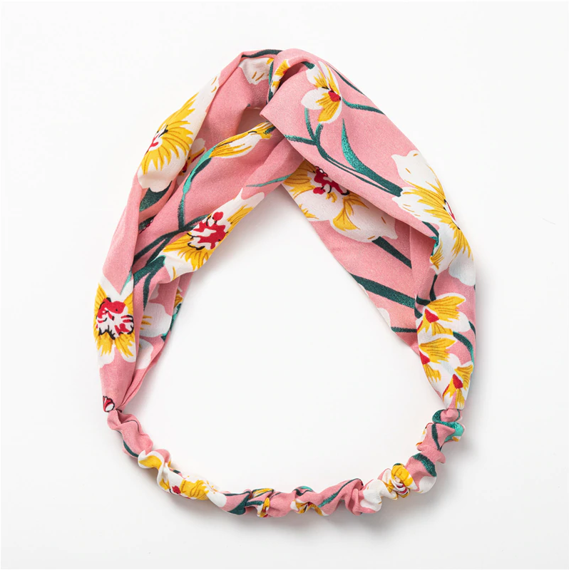 Pink Tropical Garden Headband