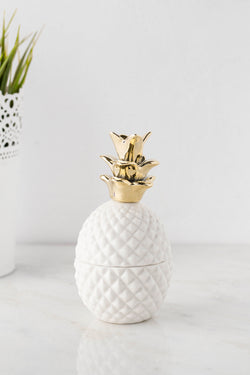Ceramic Pineapple Trinket Holder
