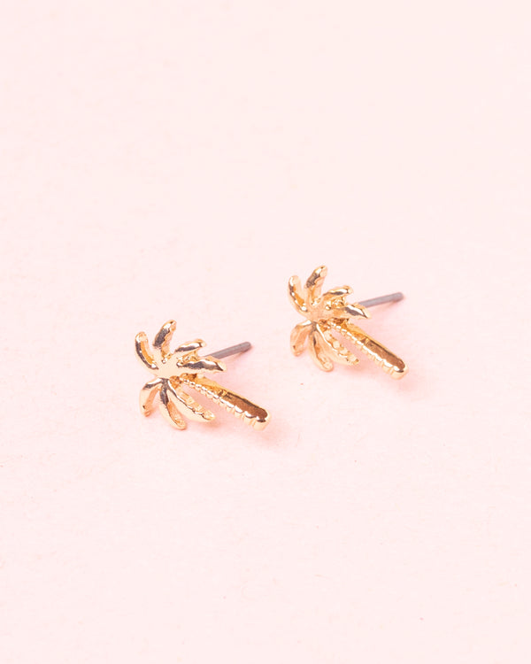 Palm Tree Stud Earrings