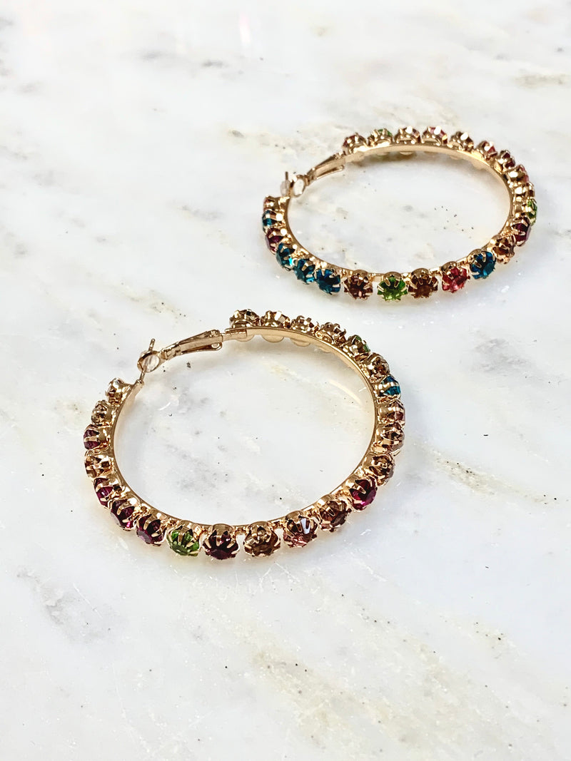 Stevette Hoop Earrings