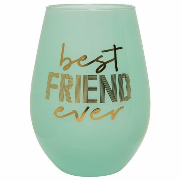 Best Friend Ever Stemless Wine Glass