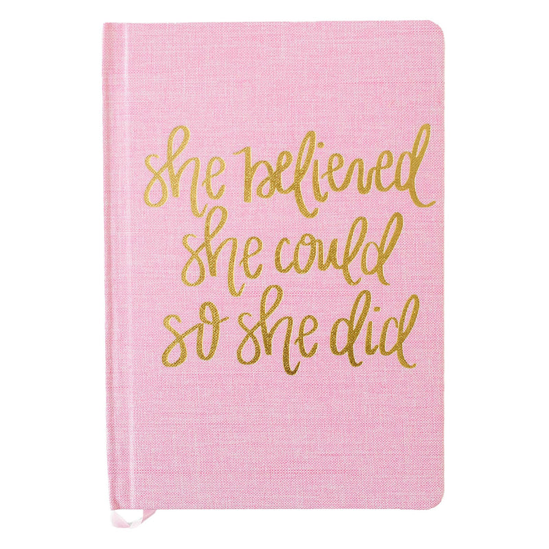 She Believed Fabric Journal