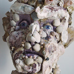 Sad-eyed oyster man by Andrea du Chatenier