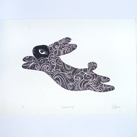 Leaping Bunny by Annie Sandano