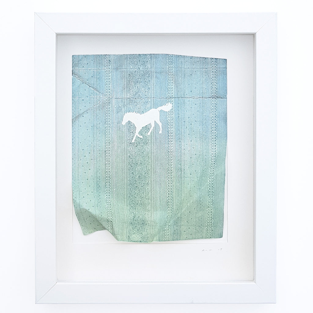 Present (Blue Horse) by Rebecca Thomson