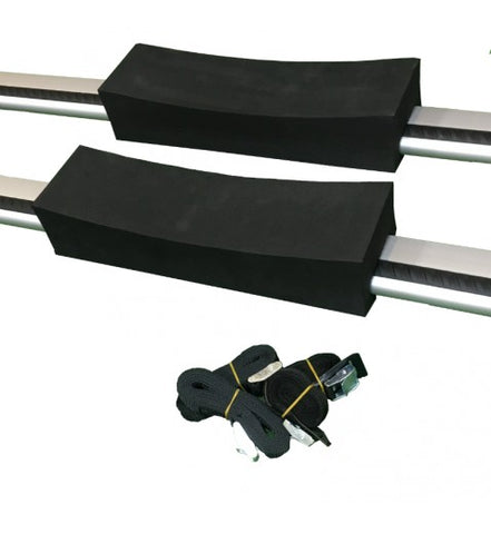 ruk Foam Kayak Roof Rack Cradle Blocks w/ Straps
