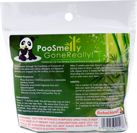 PooSmelly GoneReally!™ – Moso Bamboo Charcoal Diaper Pail Deodorizers
