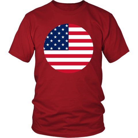 American Flag T Shirt Red