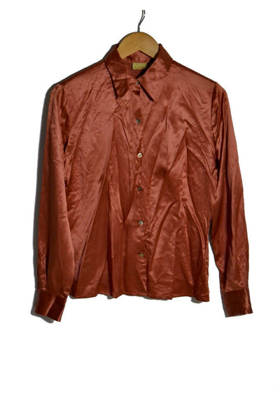 Copper Silk Blouse