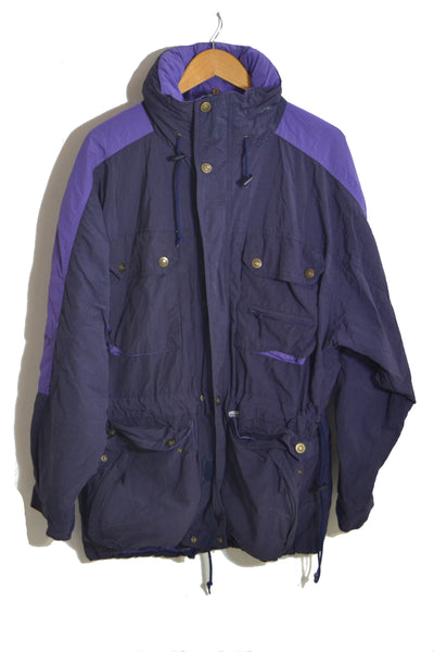 Purple Parka Jacket - L