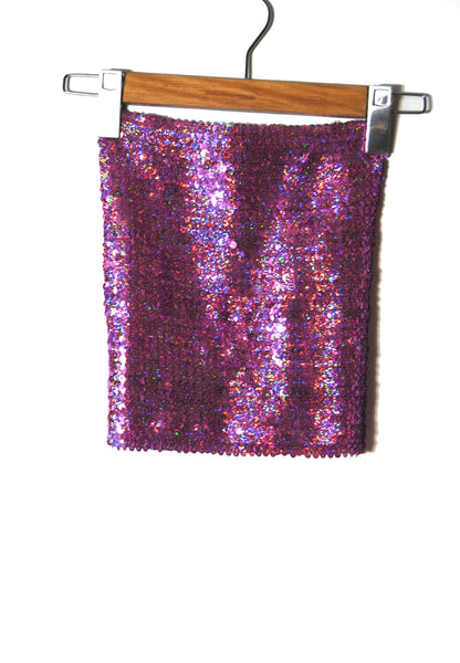 Holographic Sequin Skirt