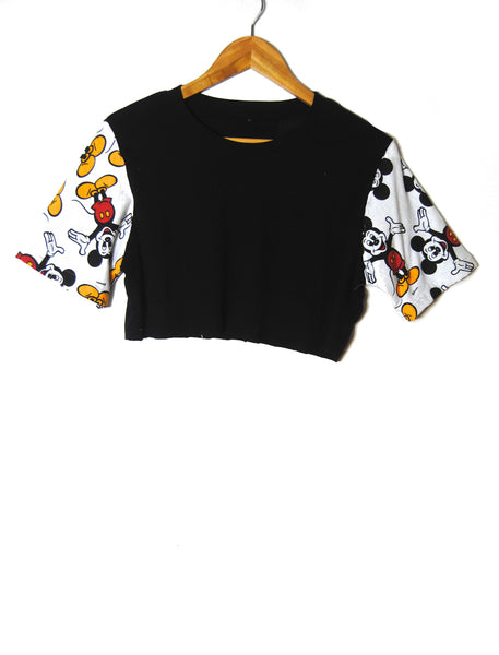 80s Mickey Crop Top