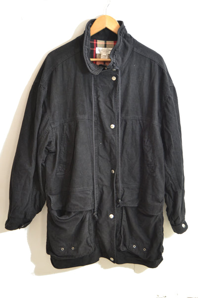 Black ParkaJacket - L