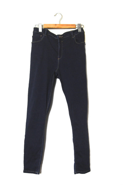 Indigo High-Waisted Skinnies