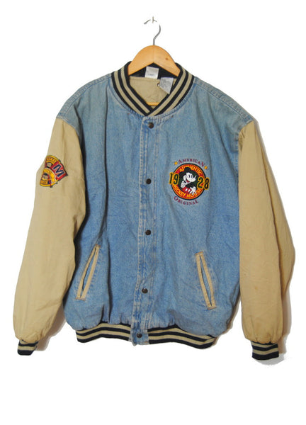 Denim Mickey Varsity Jacket