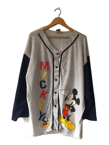Mickey Baseball Sweater - L
