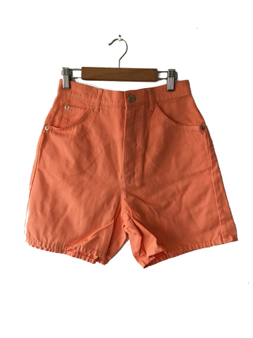 Orange Denim Shorts