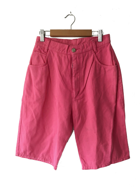 Pink Canvas Shorts