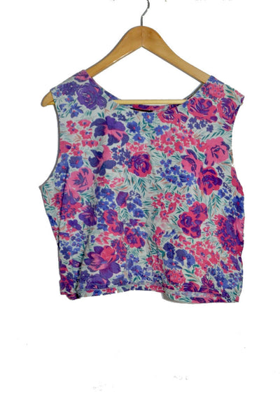 Berry Floral Top